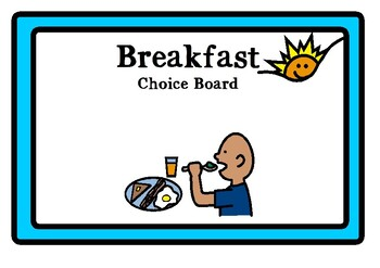 Breakfast choice board