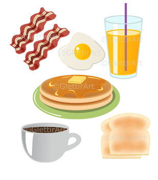 Breakfast clipart for personal and commercial use