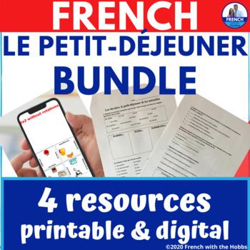 Breakfast food & utensils Vocab Bundle in French * Le petit-déjeuner