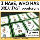 Breakfast vocabulary - I Have Who Has Game
