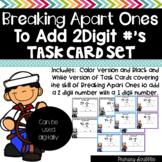 Breaking Apart Ones to Add Task Card Set