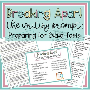 Breaking Apart the Writing Prompt Lesson Activities and PowerPoint (Grades 4-8)