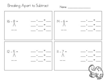 Breaking Apart to Subtract