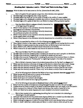 Breaking Bad Episodes 1 and 2 (2008) 15-Question Multiple Choice Quiz