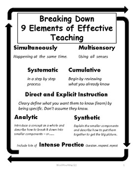 Breaking Down 9 Elements of Effective Teaching