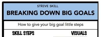 Breaking Down Big Goals Social Skill Steps Poster - The Empower Program K-2