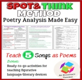 Poetry Made Easy: Teach 5 Songs as Poems with Figurative L