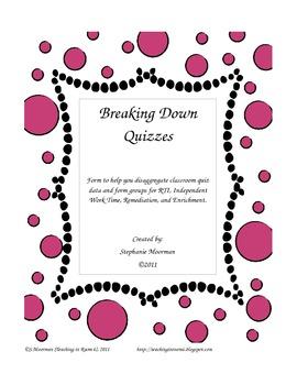 Breaking Down Quiz Data