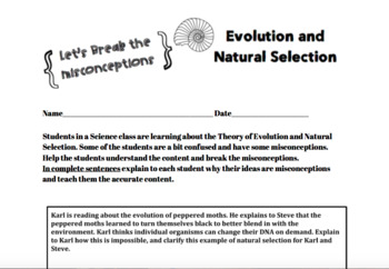 Breaking Misconceptions: Natural Selection and Evolution
