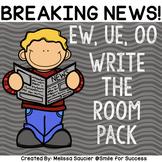 Phonics Patterns Long U UE, EW, OO| Write the Room Game an