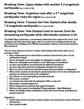 Breaking News: Earthquakes and Tsunamis
