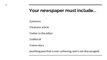 Breaking News Journalism Assignment