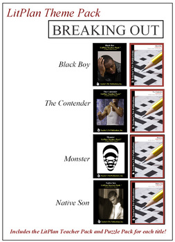 Breaking Out Novel Unit Theme Pack Bundle