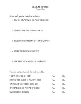 Breaking Through Chapter 2 Quiz
