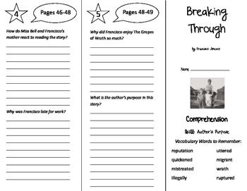 Breaking Through Trifold - California Treasures 6th Grade