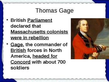 Breaking Ties with Great Britain - The Revolution Begins PowerPoint