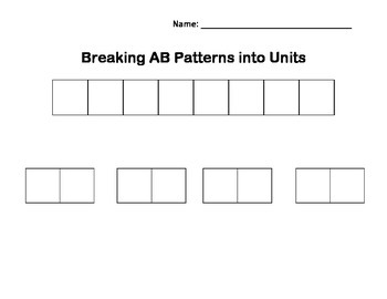 Breaking AB Patterns into Units