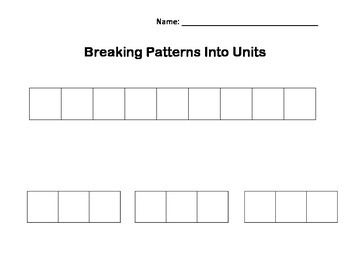 Patterns: Breaking Patterns Into Units