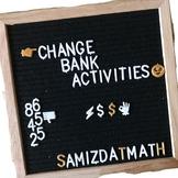 Breaking Up Dollars Using an ATM Bank Machine: Change Bank