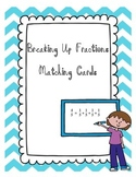 Breaking Up Fractions Matching Cards