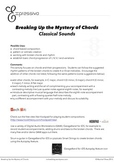 Breaking Up the Mystery of Chords