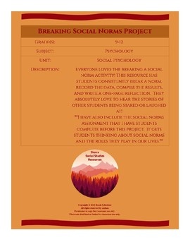 Breaking a Social Norm Project