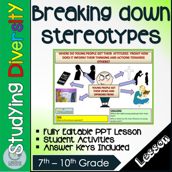 Breaking down stereotypes Lesson
