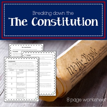 Breaking down the Constitution