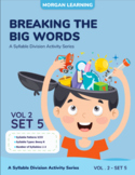 Breaking the Big Words: Syllable Division Activity Set 12