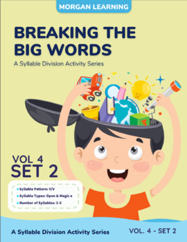 Breaking the Big Words: Syllable Division Activity Set 20 (V/V) - Open & Magic E