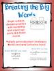 Breaking the Big Words: Syllable Division Activity Set 3 (VC/CV - Magic -e)