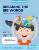 Breaking the Big Words: Syllable Division Activity Set 8