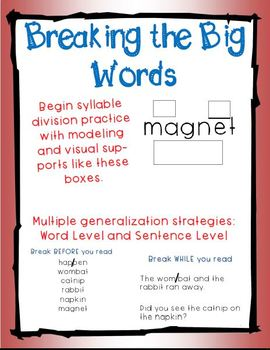 Breaking the Big Words: Syllable Division Activity Sets GROWING BUNDLE!