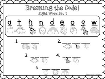 Breaking the Code with Sight Words {PACK}