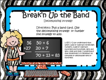 Break'n up the Band (Place Value Addition & Subtraction)