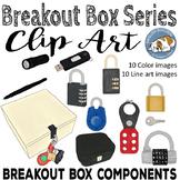 Breakout Box Components Clip Art Set