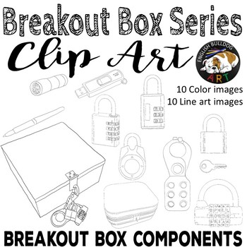 Breakout Box Lock Box Components Clip Art Set