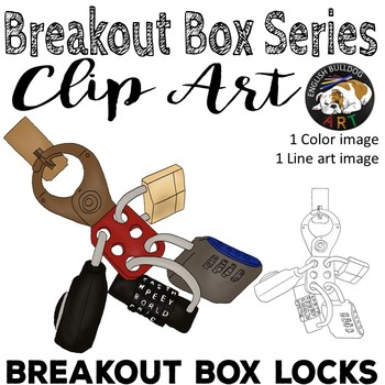 Breakout Box Locks Clip Art #1