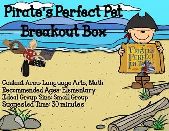 Breakout Box - Pirate's Perfect Pet - Elementary Language Arts and Math