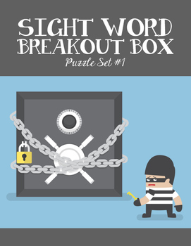 Breakout Box kit: Sight words for emerging readers Set 1