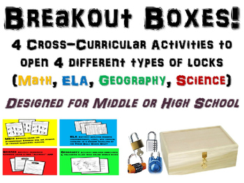 Breakout Boxes! Cross-curricular brain exercises for Middle & High School