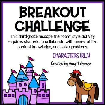 Breakout Challenge- Reading Literature (Characters)