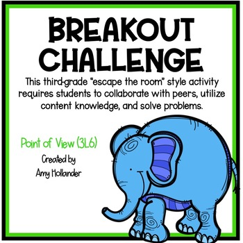 Breakout Challenge- Reading Literature (Point of View)