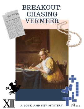 Breakout:Chasing Vermeer Lock Box Activity Escape Game