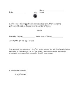 Breakout EDU - Polynomials