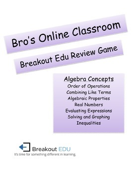 Breakout Edu Algebra Review - Basics