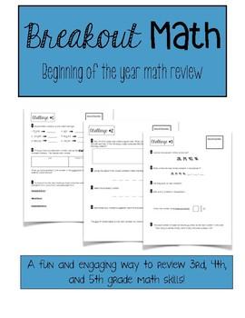 Breakout Education - Math Review