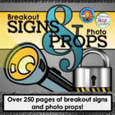 Breakout Escape Room Signs & Photo Props Set