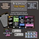 Breakout Escape Room The Tomb Algebra Topic Polynomials