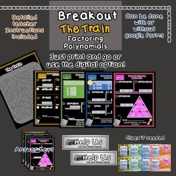 Breakout Escape Room The Train Algebra Topic Factoring Polynomials